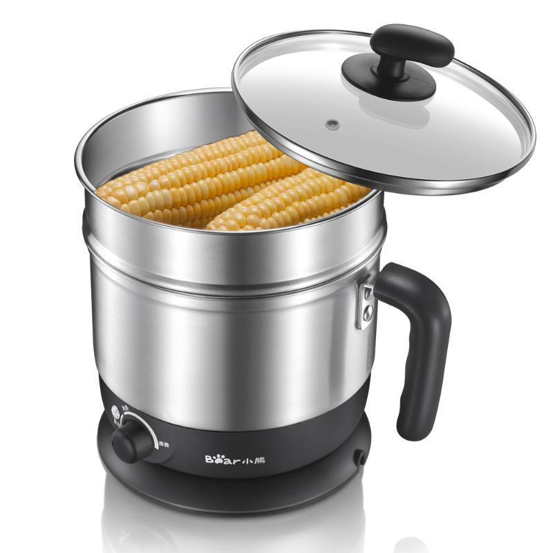 Urso Multifuncional Famílias Elétricas Frigideira Mini Dormitório Hot Pot Cozinhar Pot Fogão Elétrico Multifuncional DRG-C123