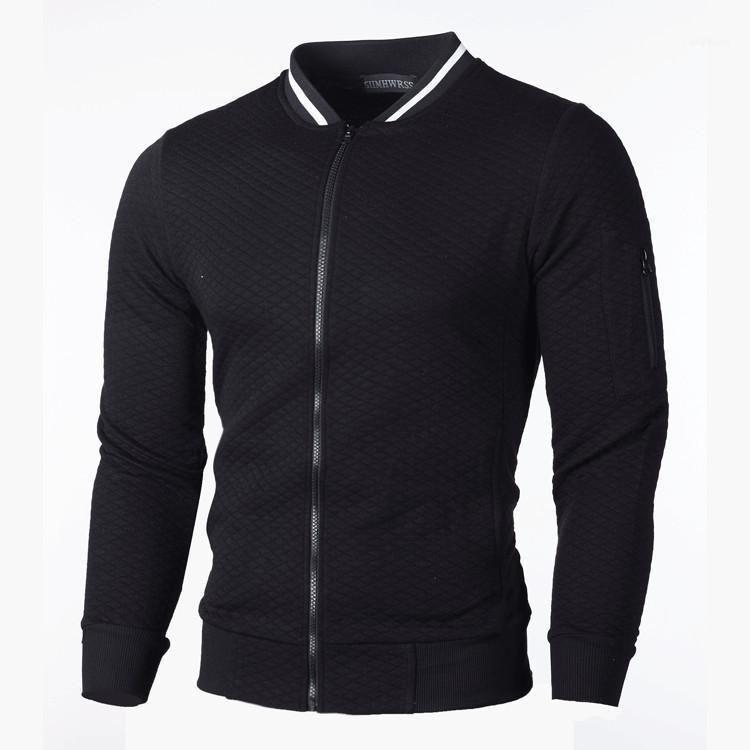 Novo jaqueta de beisebol homens primavera outono casual moda sólida zíper zíper jaquetas casacos de sobretudo fino piloto fino top coat11