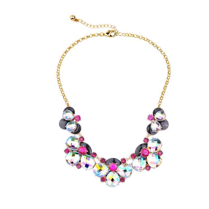 Nouveaux colliers de charme de fleurs colorées pour femmes 2020 BIB Déclaration bijoux cadeaux d'anniversaire