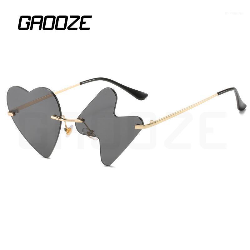 Gaooze Luxury Gafas de sol Mujeres Gafas de corazón Marca de moda de mujer Diseño original Gafas de sol Gafas de truenos de gran tamaño LXD3851 EVKKB