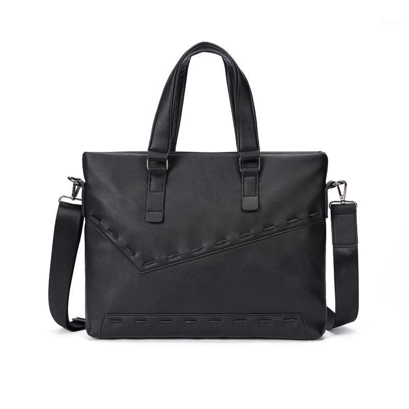 Oficina de cuero negocio maletín bolso bolsos 1 laptop de cuero 14 pulgadas de la PU Bolsa de hombro de trabajo para mujer bolsas Mujeres Hombre Bolso CNOJR