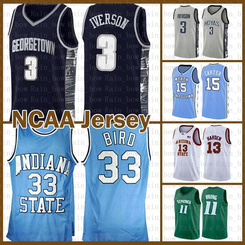 Larry 33 Bird College Allen 3 Iverson Kawhi Stephen 30 Curry Leonard Dwyane 3 Wade Ncaa Kyrie Lebron 23 James Irving Basketball Jersey Allen