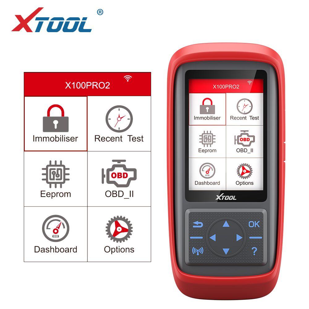 XTool X100 Pro2 OBD2 Auto Key-Programmierer / Meilen-Anpassung X100PRO ECU-Code RESET CODE Lesen Autowerkzeuge Mehrsprachige kostenlose Update