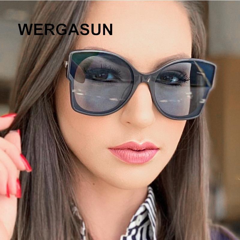Леди Женщины UV400 Очки Женщины Винтаж Модный Дизайнер Солнце Солнцезащитные Очки WertaSun Sunglass Shades Очки Brand Madbl