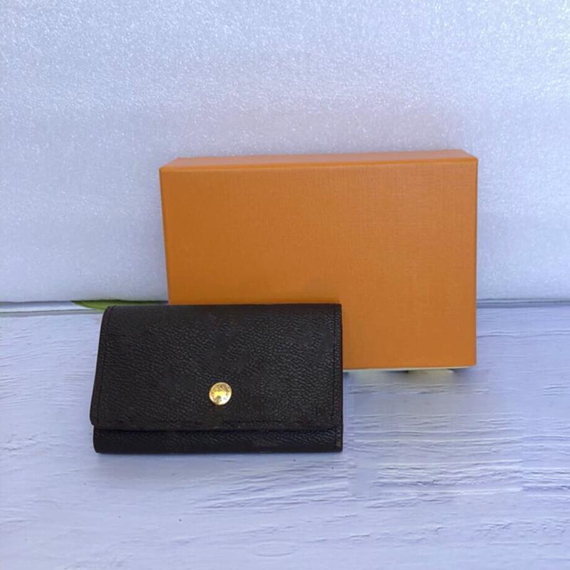 Оптовый люкс кошелек ключа дизайнер для мужчин высокого качества короткого бумажника леди шесть ключевых держателя женщин мужчин классического кармана на молнию ключ цепи с коробкой
