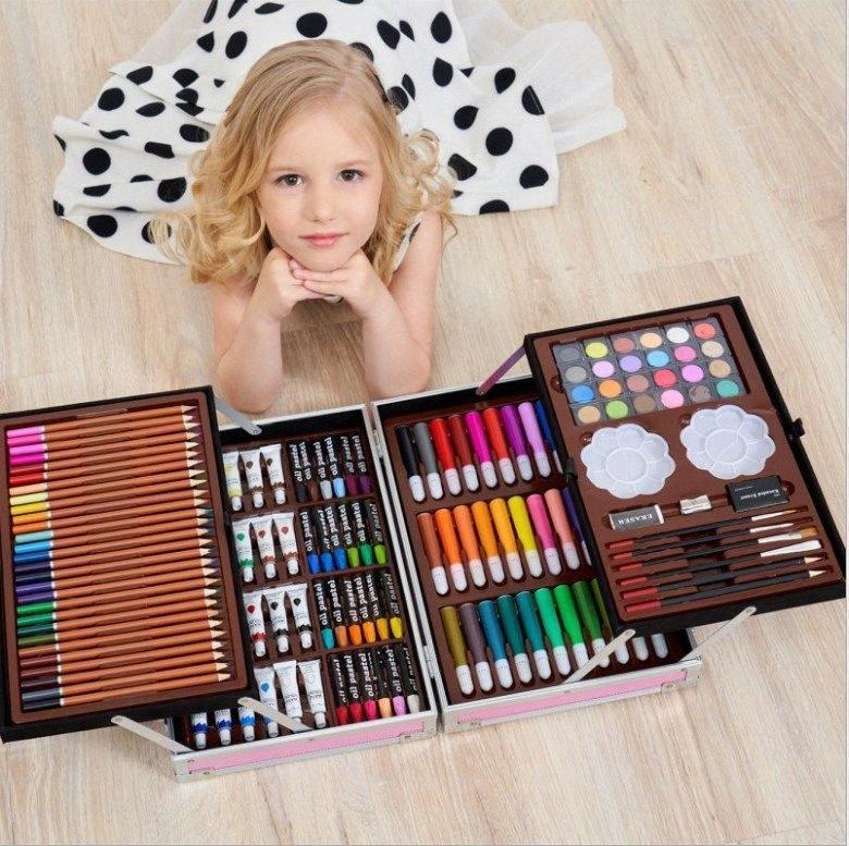 145 pcs super méga art à aquarelle non toxique stylo jeux de dessin artistique papeterie apprentissage créatif cadeau pour les enfants NHBD #