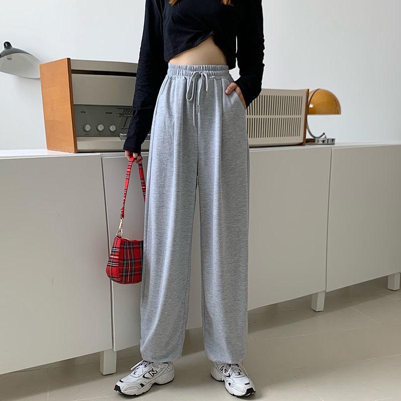 2020 Autumn Thin Loose Jogging Pants Women fashion High Waist Casual Sportwear Trousers Female Comfy Wide Leg Streetwear Pants
