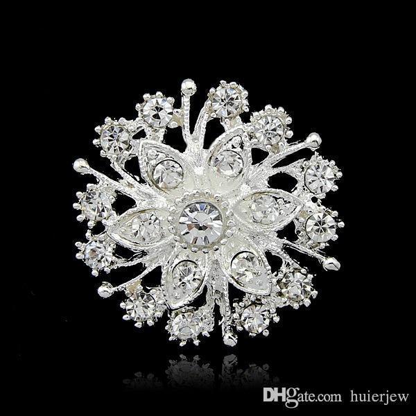 Ювелирное Рождество броши Мода Броши Булавки Wholesales Кристалл Diamante партии Красиво Брошки Pins