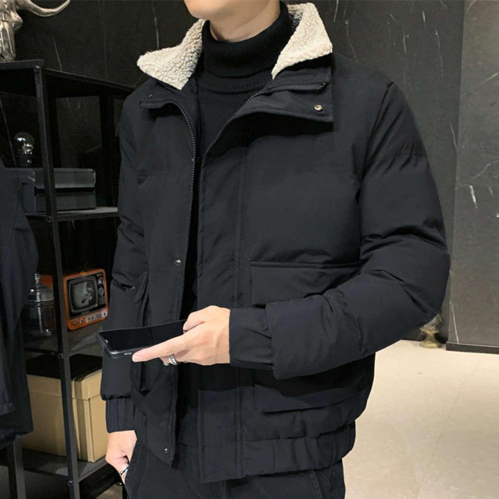 Mantel verdickte warme Jacke 2020 Neue Herbst und Winter tragen vielseitig heruntergefahrene Baumwolle gepolsterte Männer