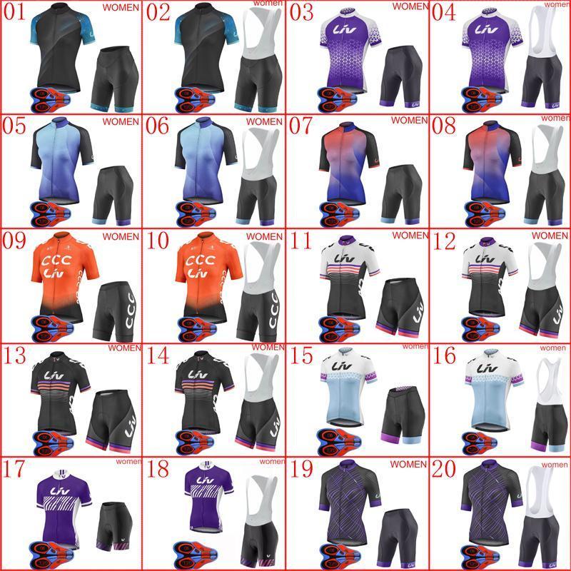 2020 Mujeres ciclismo set Nueva bici del camino de manga corta trajes de verano transpirable bicicleta uniforme ropa deportiva al aire libre Y20052001