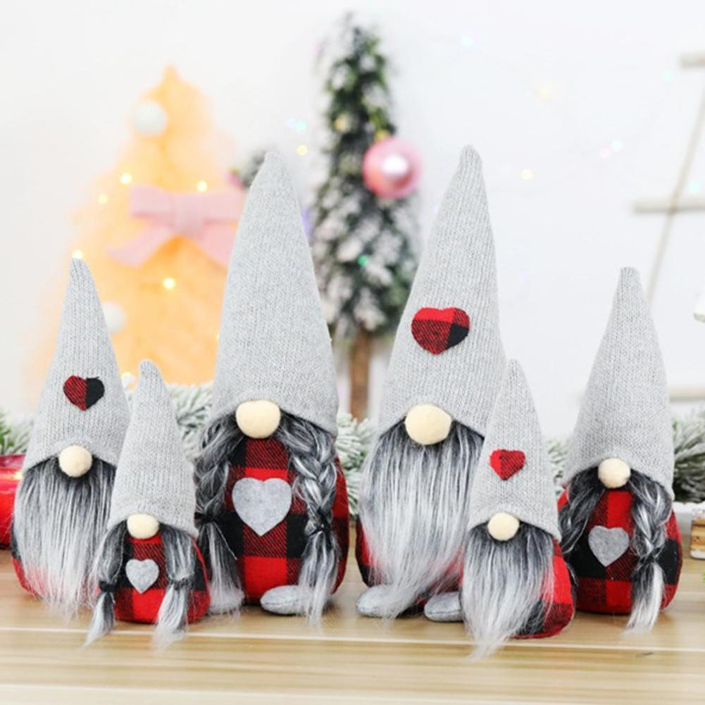 Santa Bebek Masa Süsler Pencere GNOME Yüzsüz Dekorasyon Hediye Ailene ve Arkadaşlarınıza Noel için