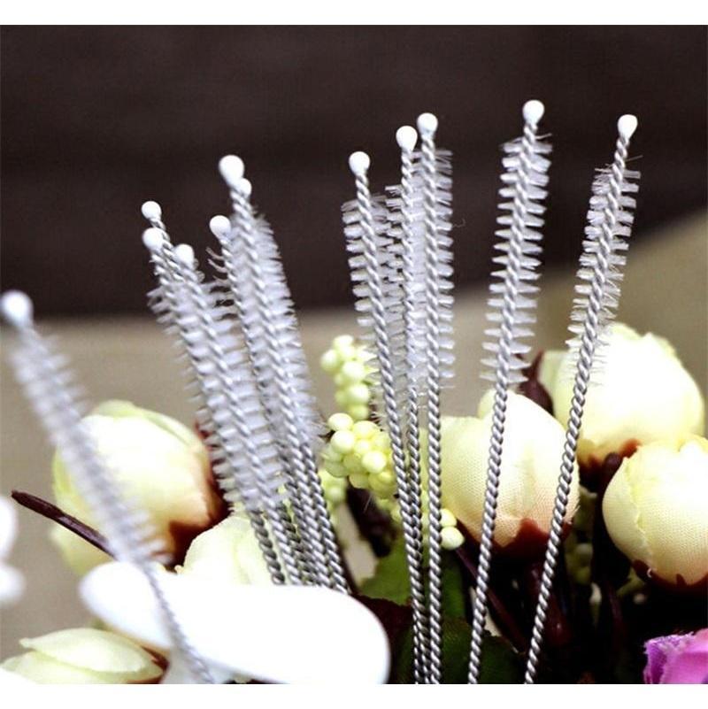 Rohrreiniger Nylon Strohreiniger Reinigungsbürste für Trinkrohr Edelstahlrohr Jllihi Garden_Light