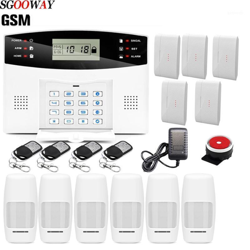 Бесплатная Доставка Сгоосей Беспроводной Домашний Безопасность GSM Аварийная Система Пульт дистанционного управления Авто Dial Smoke Pir Дверной Датчик Сирена Датчик SIREN KIT1