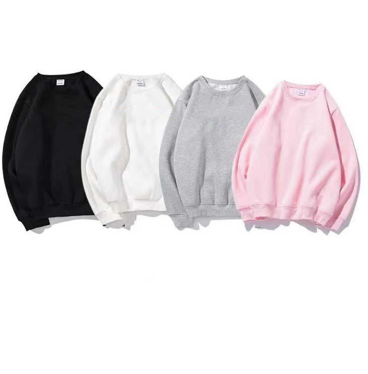 المرأة الصوف هوديس 20fw جودة عالية مصمم الأزياء البلوز مع خطابات التطريز سميكة النساء ملابس الشتاء الأبيض الأسود M-2XL