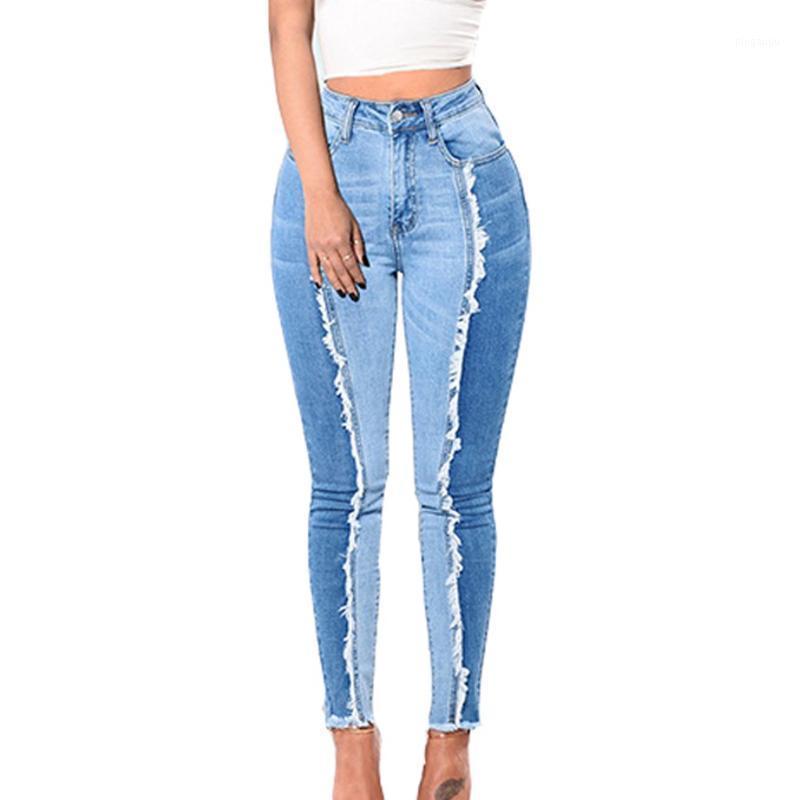 Jeans da donna per le donne Sky Blue Slim Skinny Plus Size Denim Pants Sexy Leggings Leggins Fitness Lunghezza L-5XL1