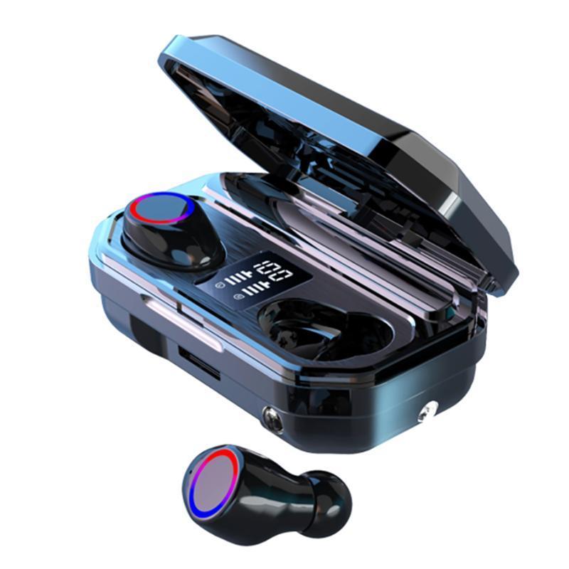 Беспроводные наушники M12 TWS Bluetooth гарнитура аварийное питание Дизайн Дыхание лампы 2000 MAh зарядка Box наушники