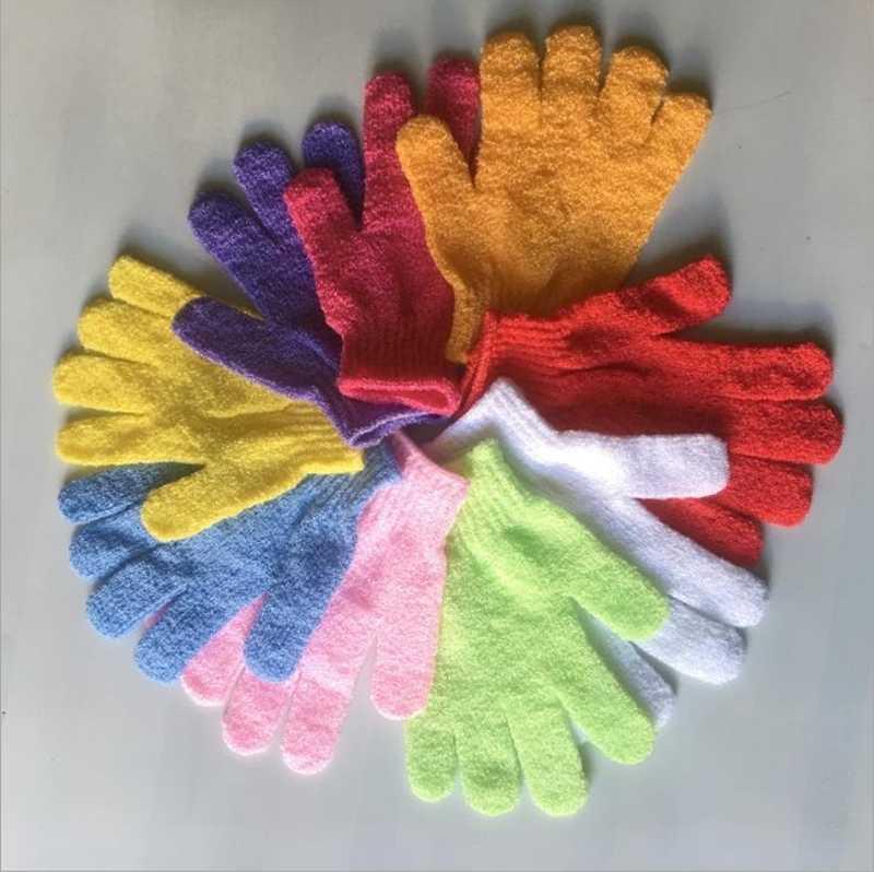 Guantes de fábrica de fábrica de fábricaDqrmfive Finger Spa Ducha Cuerpo Limpieza Scrubber Candy Bath Towel 9 Colores BT683
