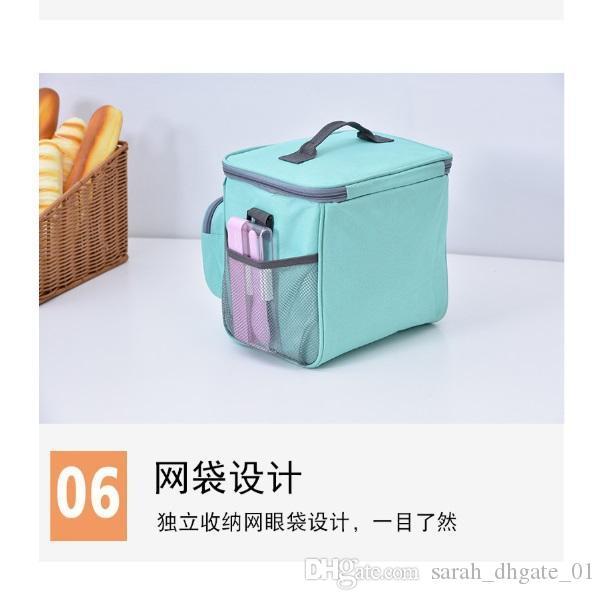 5 видов цветов сохранения тепла мешка, толстого пакет мешок льда, студент носить мешок коробки водонепроницаемого обеда
