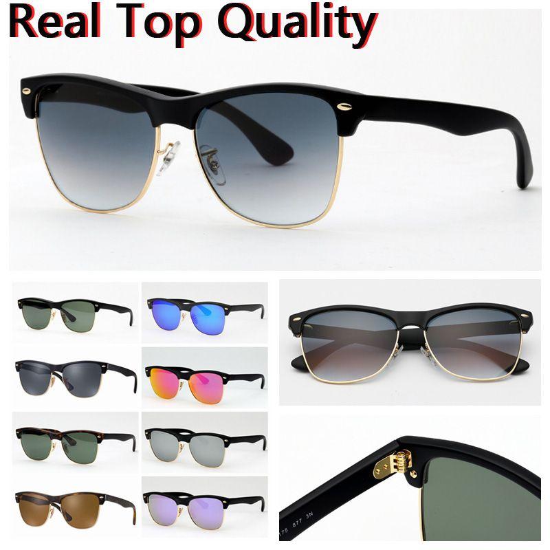 Óculos de sol de óculos de sol do designer para óculos de sol dos homens com estojo de couro lenês, preto ou marrom UV, e todos os pacotes de varejo!