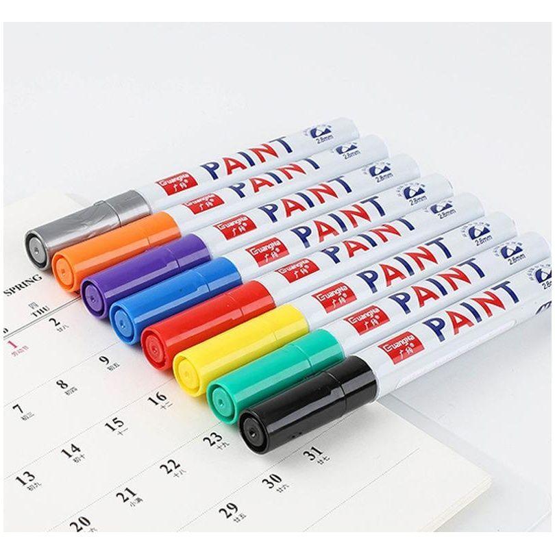 Su Geçirmez Marker Kalem Lastik Lastik Sırtı Kauçuk Kalıcı Soluk Işaretleyici Kalem Boya Kalem Beyaz Renk JLLWOL XMH_HOME üzerinde Marks