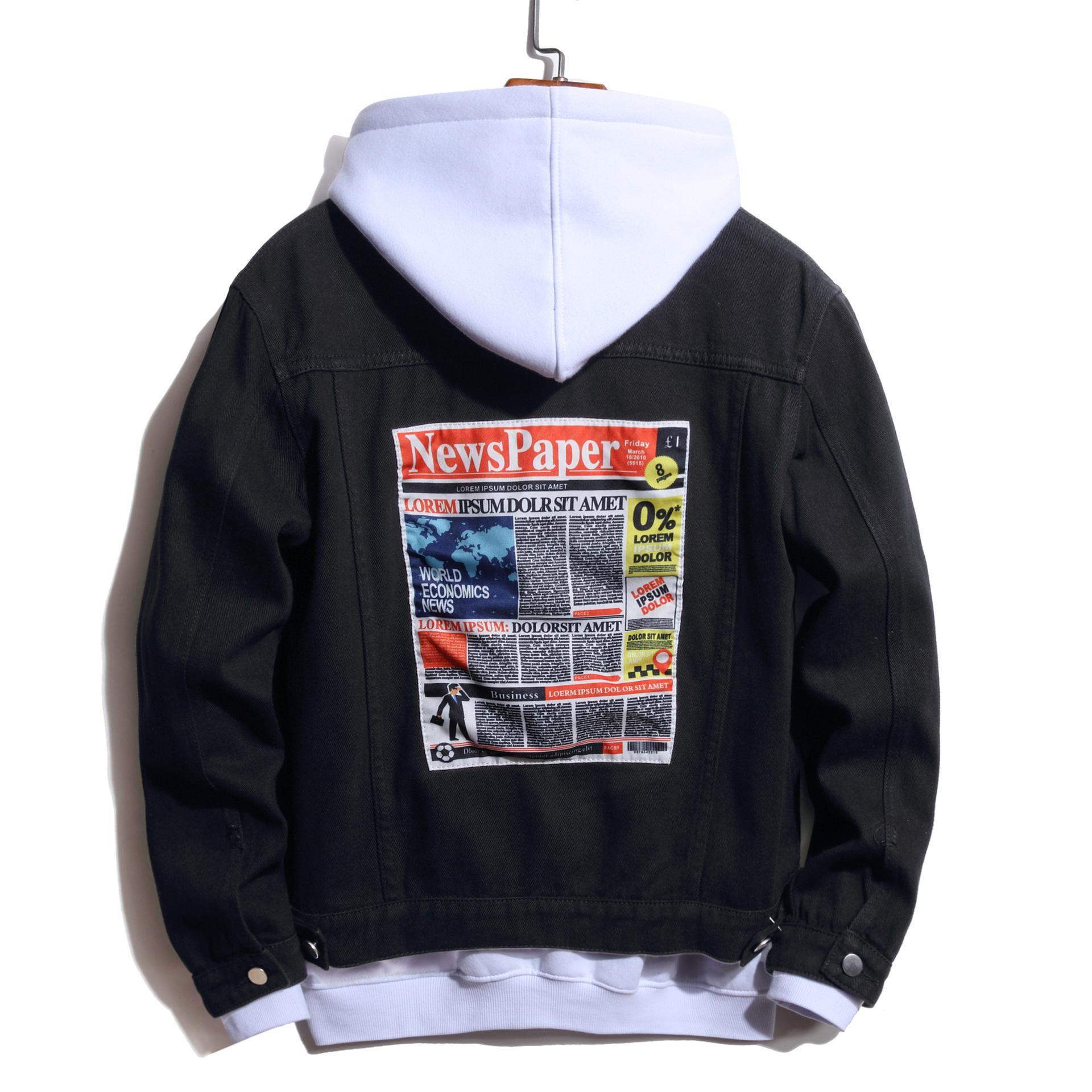 Nedensel Erkekler Ceketler Moda Baskı Spor Giyim Denim Vintage Mont Hip Hop Erkek Streetwear Erkek Bombacı Ceketler Boyutu S-3XL 0825 #