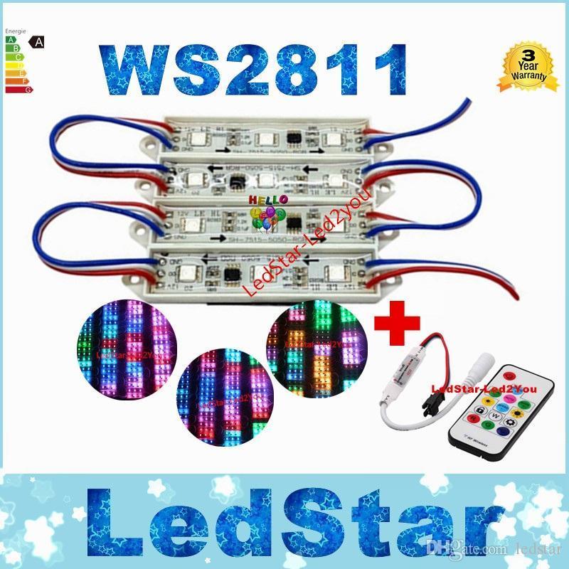 الجملة 500 قطعة / الوحدة 5050 led وحدة rgb WS2811 أضواء قناة الصمام dc 12 فولت للماء ip67 led الإضاءة في الهواء الطلق ce بنفايات ul saa