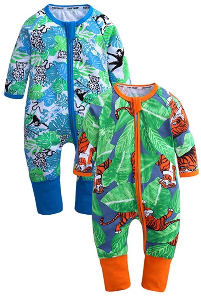 детские комбинезоны пижамы Одежда для новорожденных банановых Детские комбинезоны хлопка с длинными рукавами для мальчиков и девочек