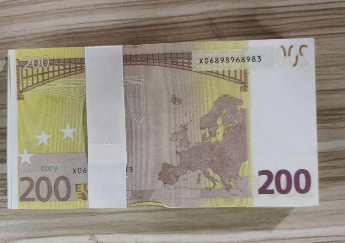 09 Fábrica de simulação de vendas diretas Euro- contas adereços notas DIY moedas adereços jogo para crianças Euro adereços jogo contas
