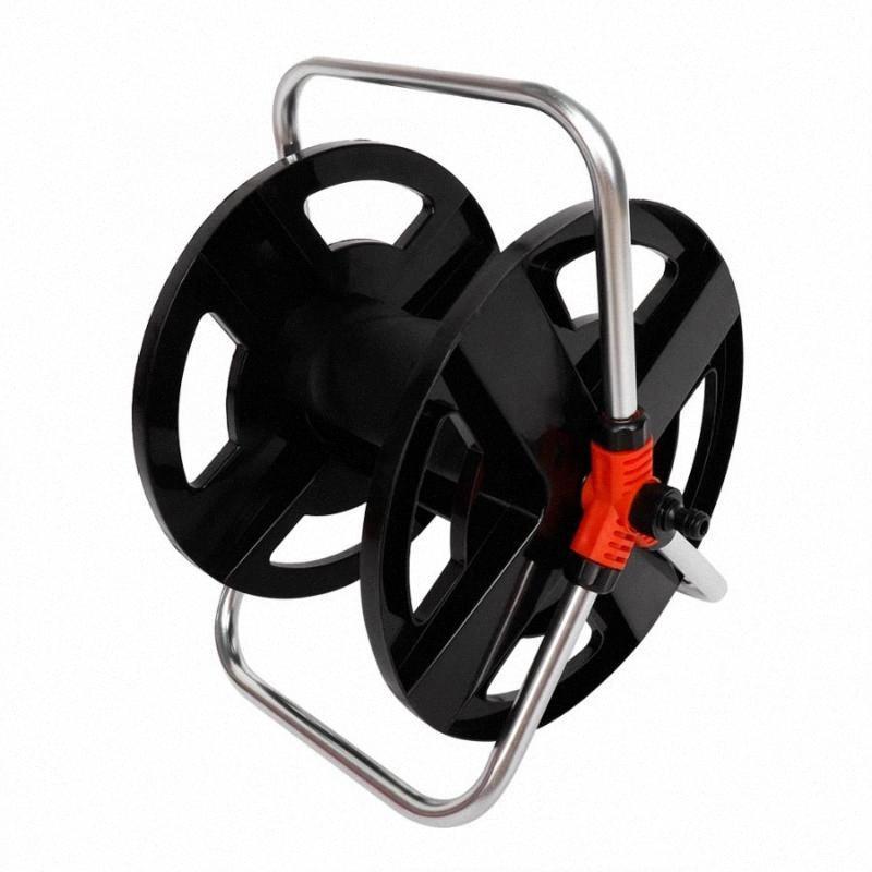 FT Portable Chariot dévidoir de tuyau tuyau d'eau Support de rangement Bobine Accessoires de jardin Outil de 20 m d'eau Tuyau d'arrosage Accessoires hhjT #