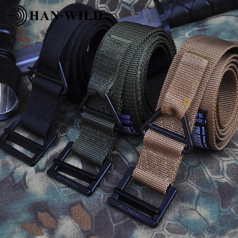 2020 taktische Riemen verstellbares Nylon Militärgürtel Tauchen Männer geöffnet Rettungsjagdausbildung Zubehör Gürtel
