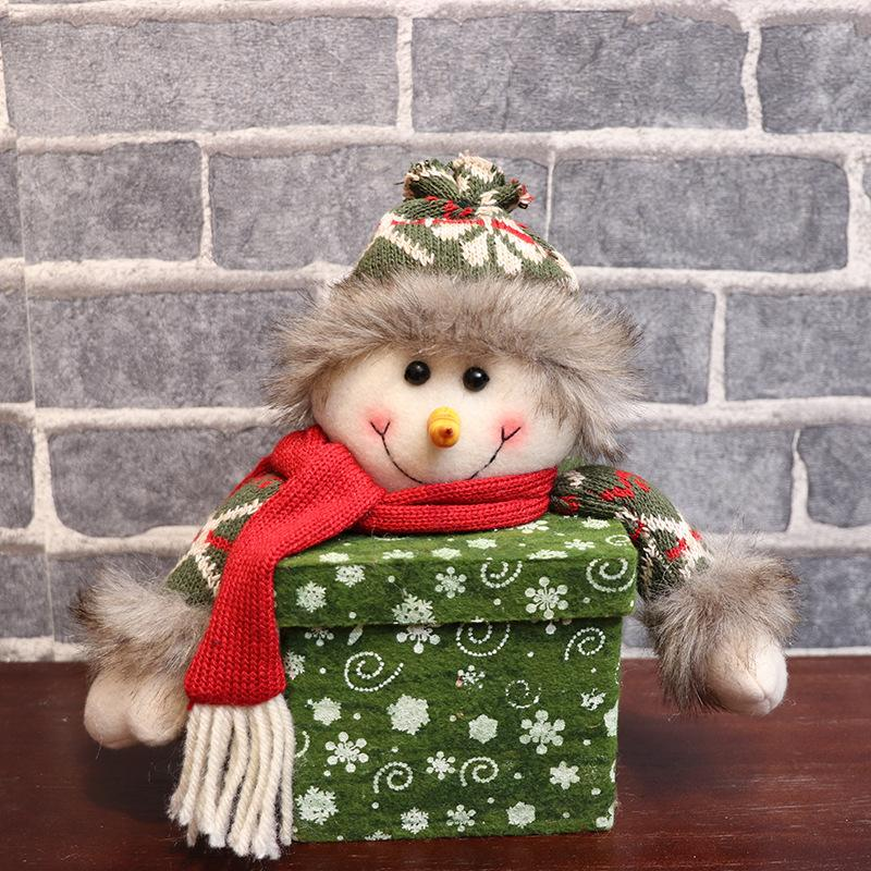 Быстрая доставка рождественский подарок мешок квадратный снежинка коробка подарка рождества яблока коробки творческие куклы Рождественские украшения F8702