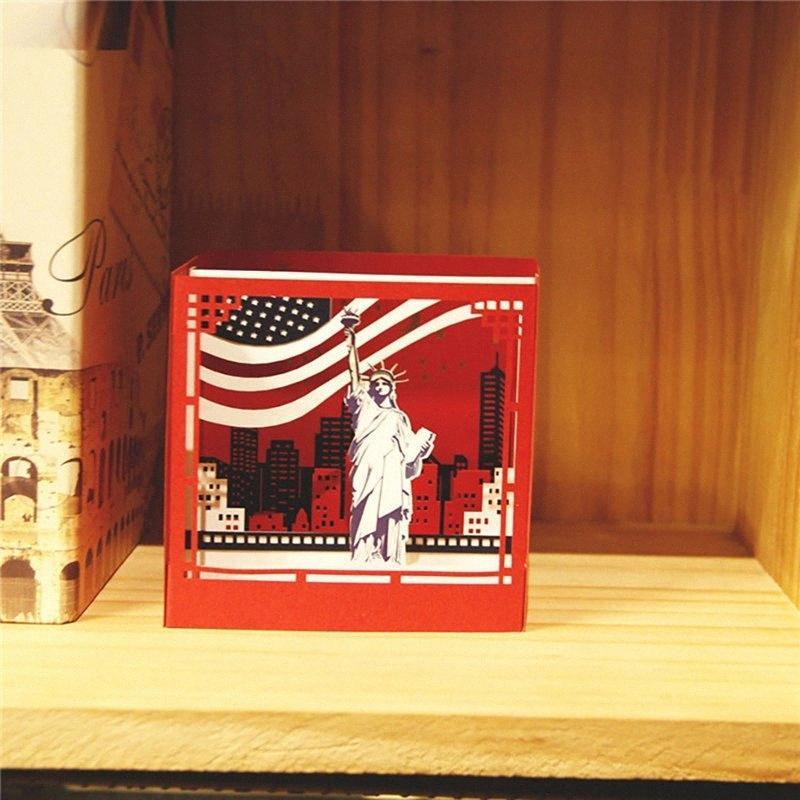 New York 3D Fold Up scheda e busta CKkc #