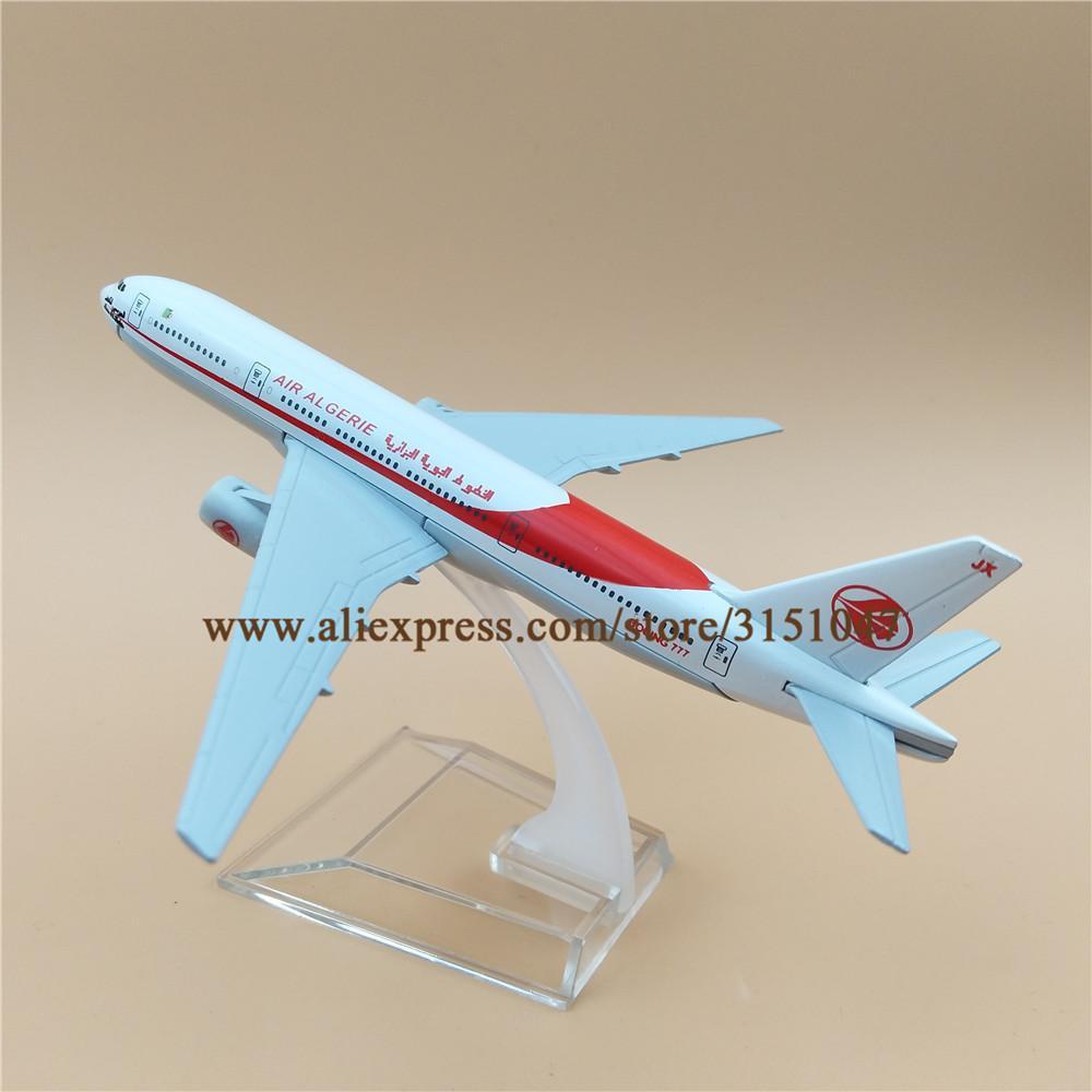 Uçak Hava ALGERIE Havayolları Boeing 777 B777 Airways Alaşım Metal Model Uçak Döküm Uçak 16cm Hediye