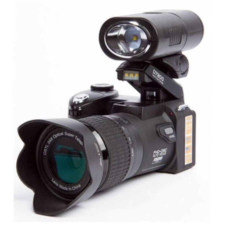 Polo D7200 Fotocamera digitale 33MP 1080P Auto Focus SLR Videocamere HD Videocamere 24x + Teleobiettivo Lens Lente larga Angolo LED LED