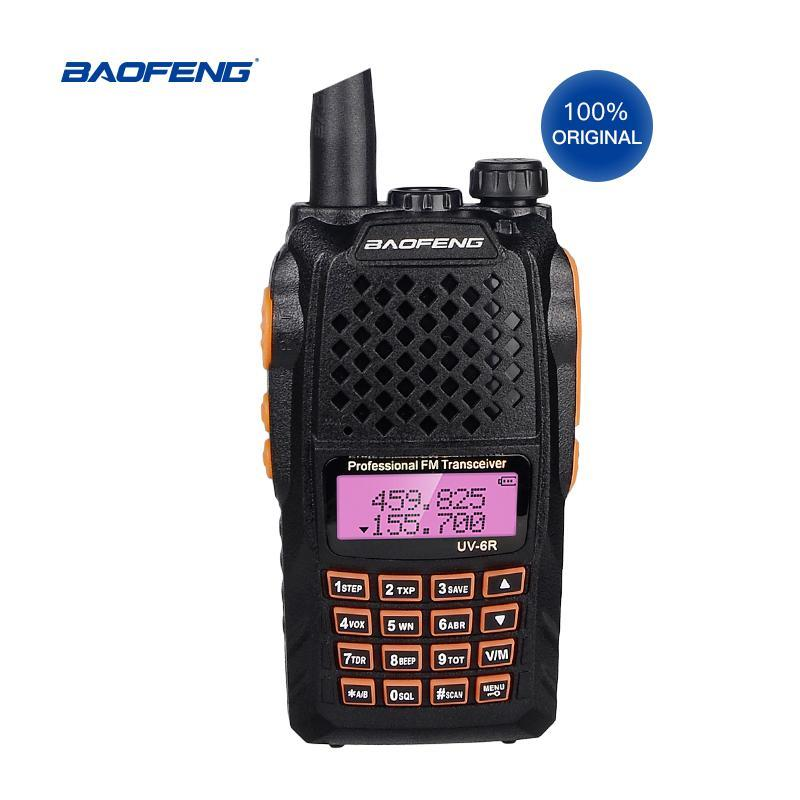 Walkie Talkie Fabrik Originalverkauf 2 stücke Baofeng UV-6R HAM Radio Transceiver 7w Walki Talki Handheld 2-Way mit LCD-Display