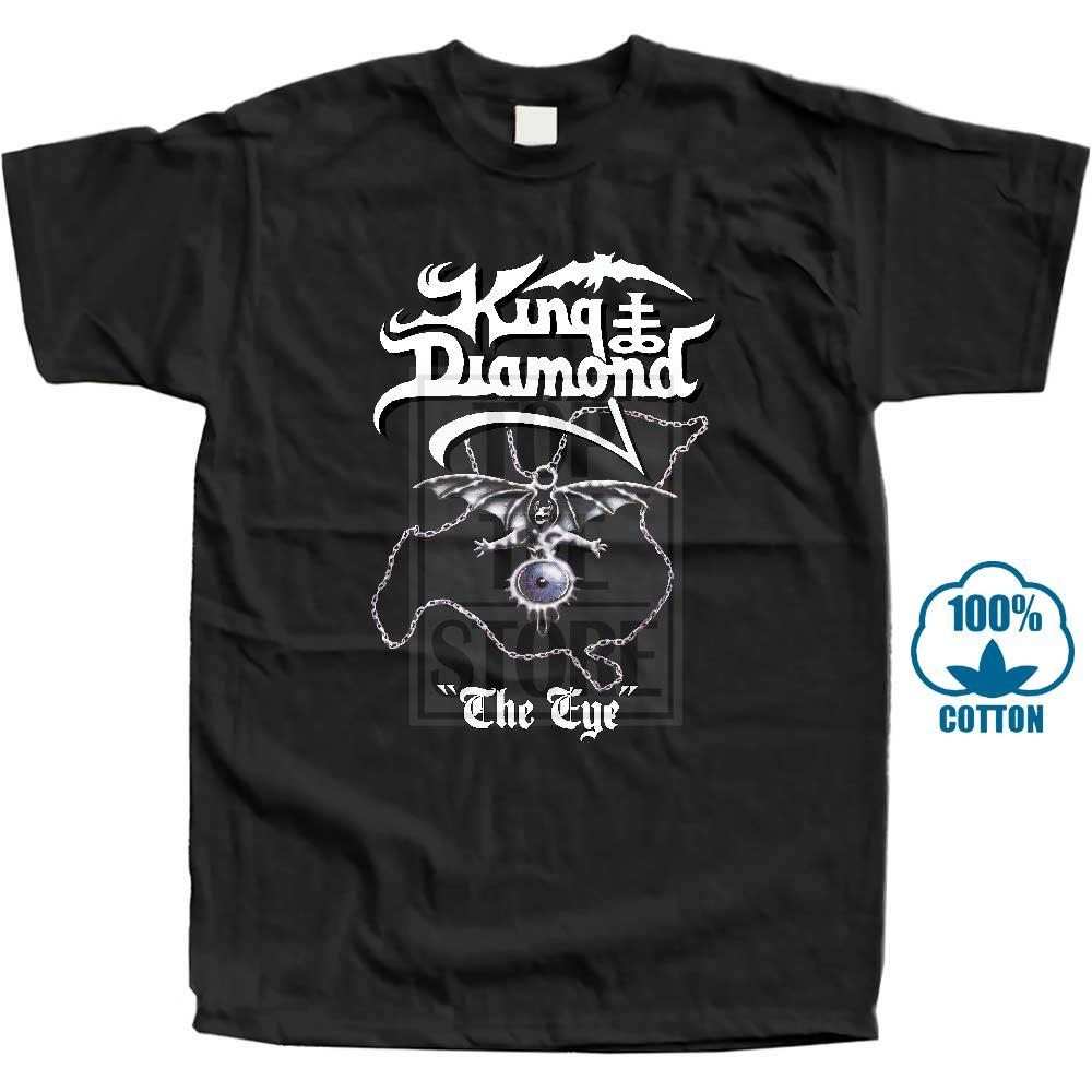 King Diamond The Eye 1990 фиолетовый Размеры S 5XL Смешной O образным вырезом с коротким рукавом Скидка Hot New +2018 спорта Толстовка с капюшоном Толстовка мужчины тенниска
