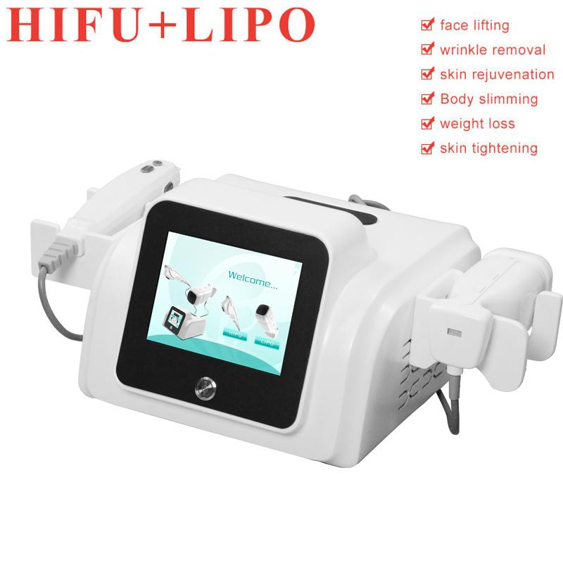 liposonic portable liposunic hifu face wrinkle removal 2 handles liposonic weight loss slimming hifu skin lifting free shipping