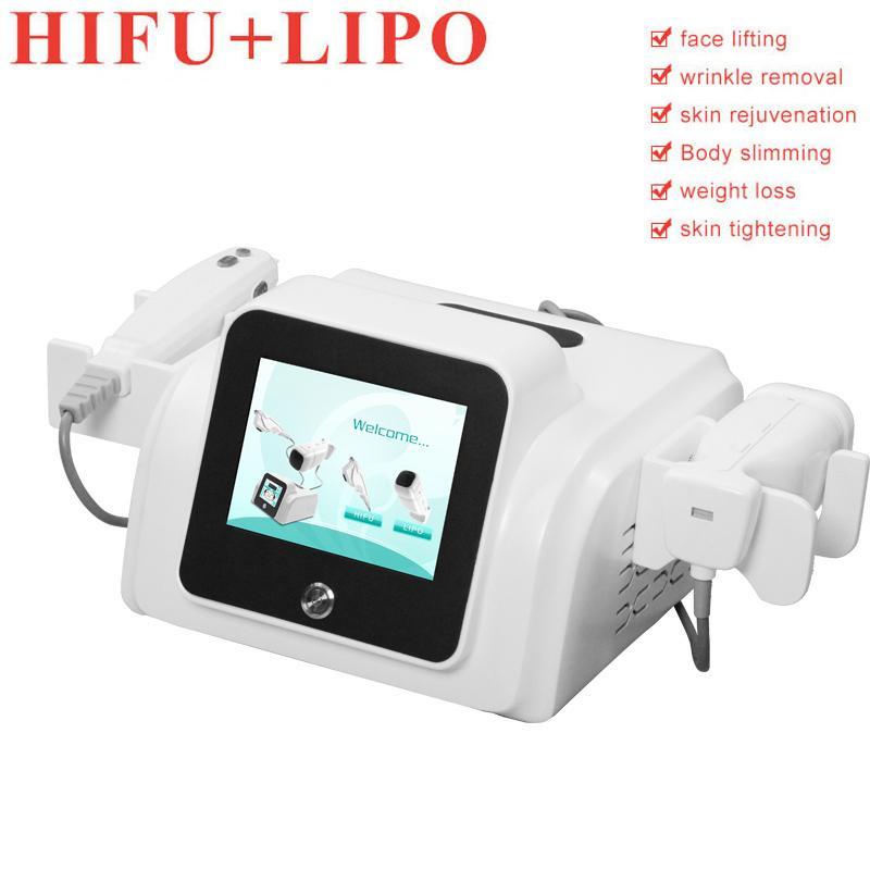 liposonic المحمولة liposunic HIFU الوجه إزالة التجاعيد 2 مقابض الوزن liposonic خسار HIFU الجلد رفع الشحن المجاني
