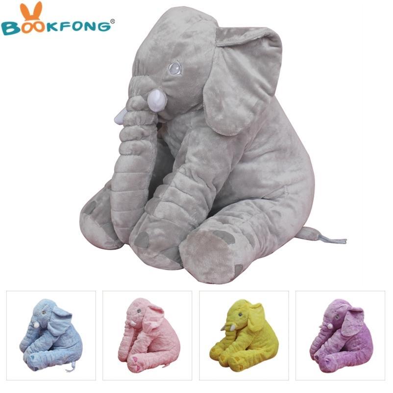 1 PC PLUSH Elefante boneca brinquedo crianças dormindo costas almofada macia elefante molhado bebê acompanhar brinquedos boneca para bebê presente de natal 40/60 cm 201222