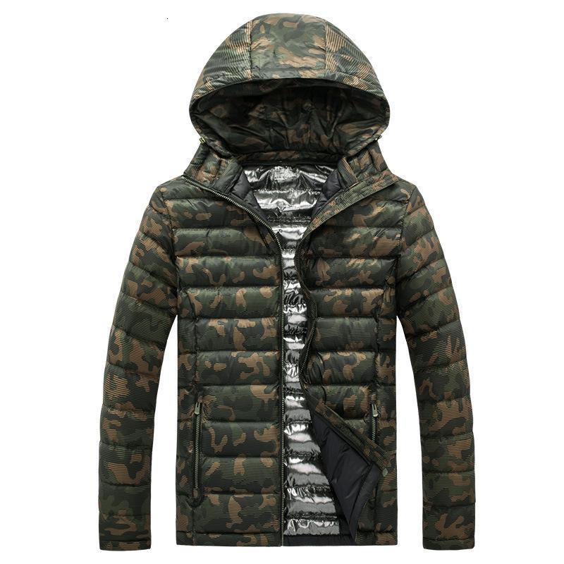 Camuflaje chaquetas y abrigos nuevos hombres de la moda