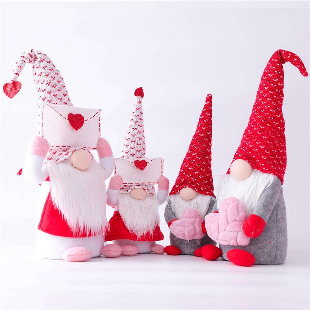 2 pcs dia dos namorados gnome decorações de pelúcia -mr e mrs handmade scandinavian tomte para o ornamento dos namorados doll bady dola dia dos namorados presentes
