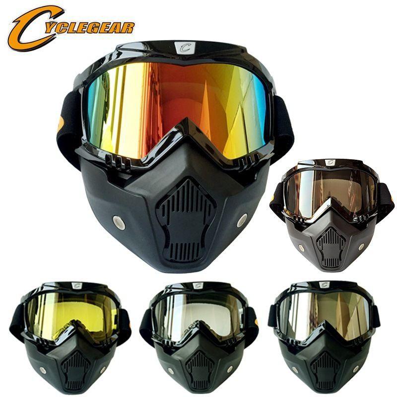 Casque de moto Riding Goggle costume Cross Cross Country Harley Gogles Masque amovible