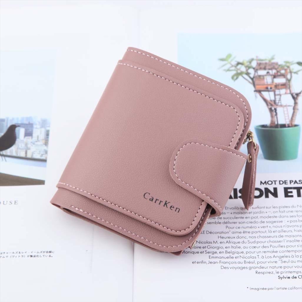 Couro pequeno Mulheres Carteira Marca Mini Womens carteiras e bolsas Curto Feminino Coin Purse Cartão de Crédito p2 Titular