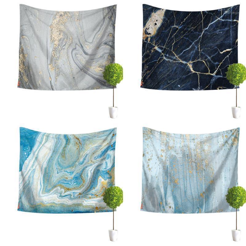 Séries de mármore impressão parede pendurado tapeçaria de poliéster cobertor arte parede tapete fundo sala de estar decorativo tapestry1