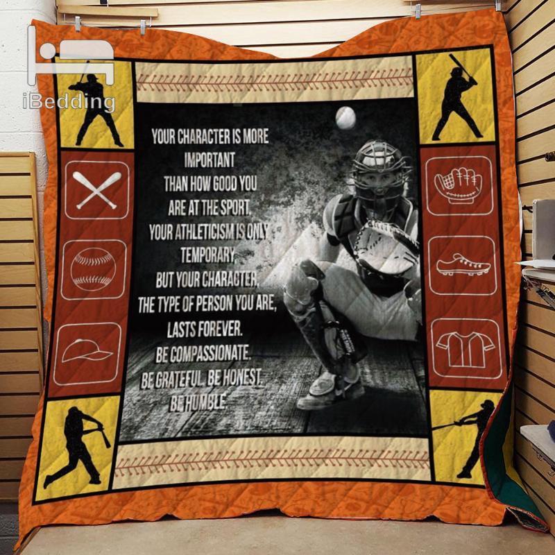 Essere compassionevole dello Sport Personalizza Printed Quilt Coperta Doppia pieno / regina King Size Dropshipping