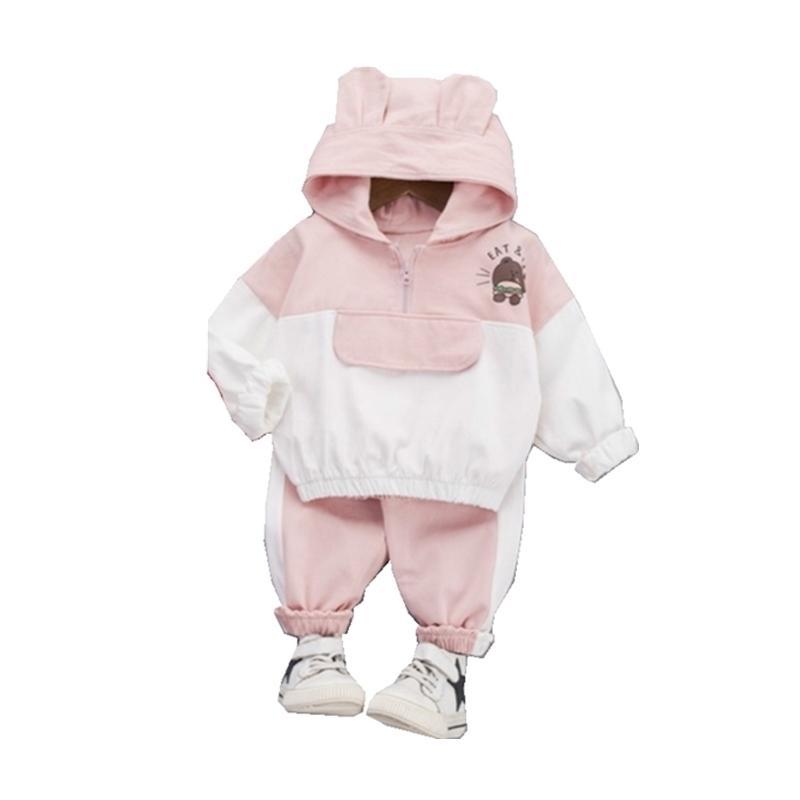 Outono crianças meninos meninos menina roupas hoodies desenhos animados camisola calça 2 pçs / sets infantil crianças roupas casuais tracksuits 20116