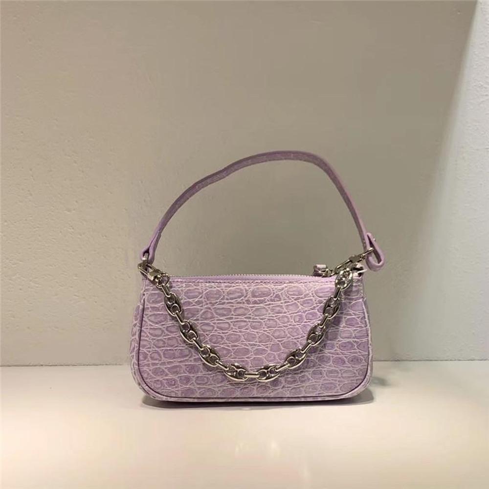 Металлическая модная ручка сумка сумка для женщин мини-верхние дизайнеры сумки с качеством моды новых LLSE кожаные роскоши Baguette Red Crossb HXGS