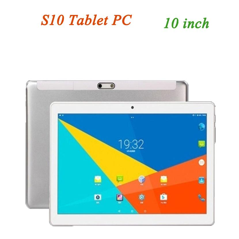 S10 Tablet PC 10 inch 10'' 2G Phone Calling MTK6592 Processor Supports Dual SIM 1GB+ 16GB IPS Resolution 1280*800 Quad Core Quality