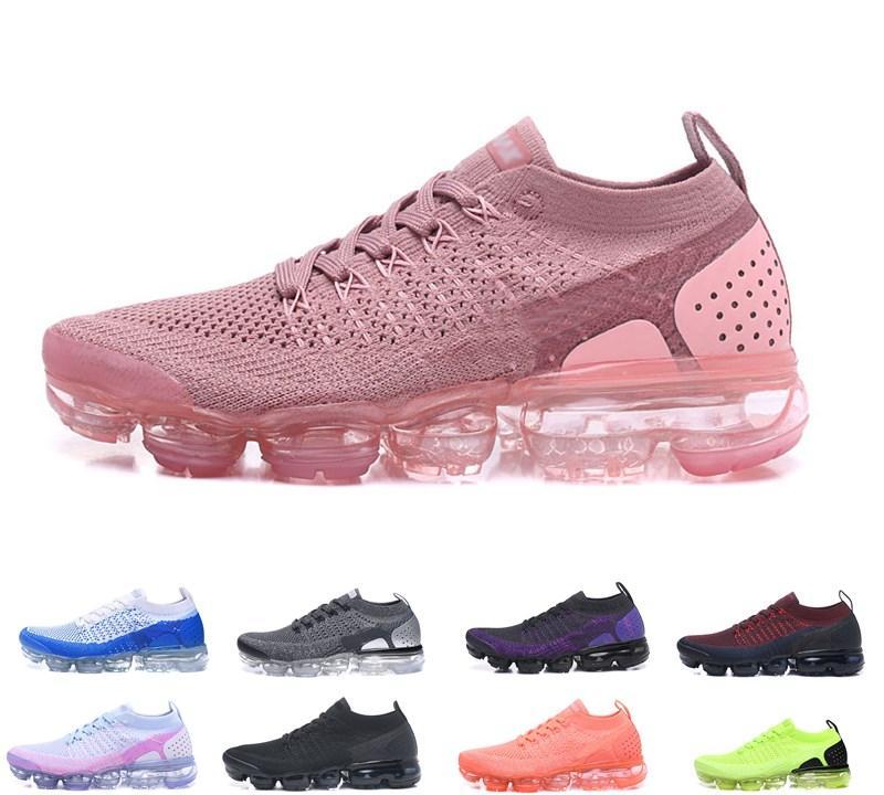 2019 vapormax flyknit 2.0 running shoes Knit 2.0 Fly 1.0 Chaussures de plein air Hommes Femmes BHM Rouge Orbit Métallique Or Triple Noir Maxes Chaussures Baskets Baskets 36-45