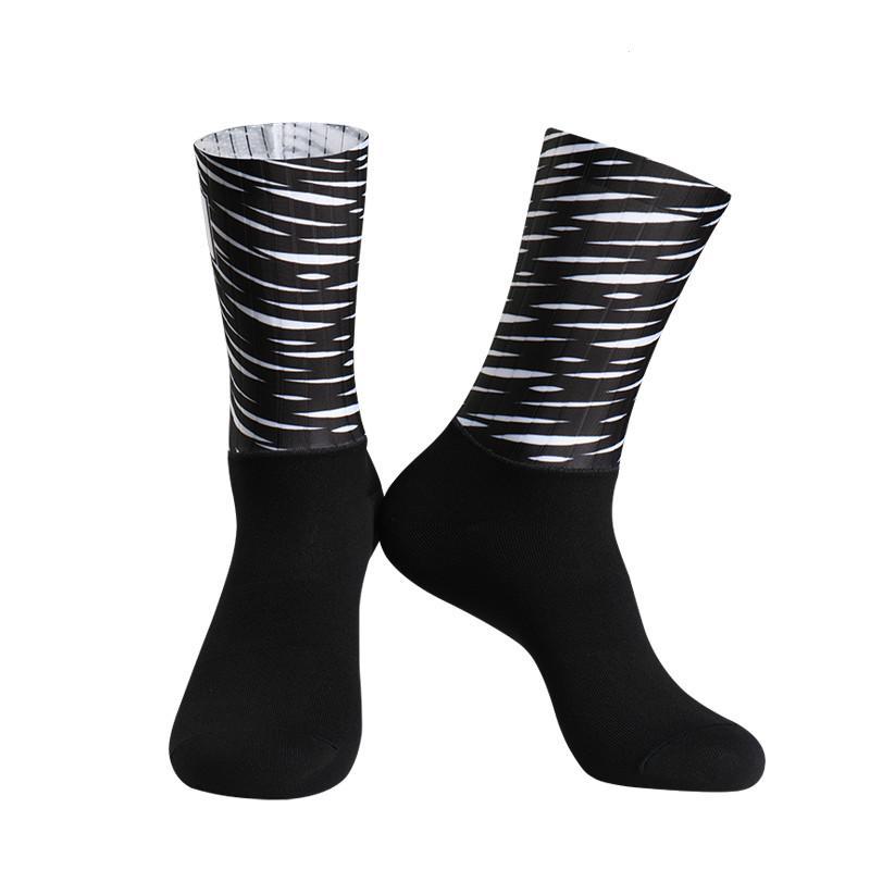 Nuevo Anti Slip sin costuras de silicona Calcetines Moldeado Integral de alta tecnología de la bici media de compresión de bicicletas al aire libre calcetines de running